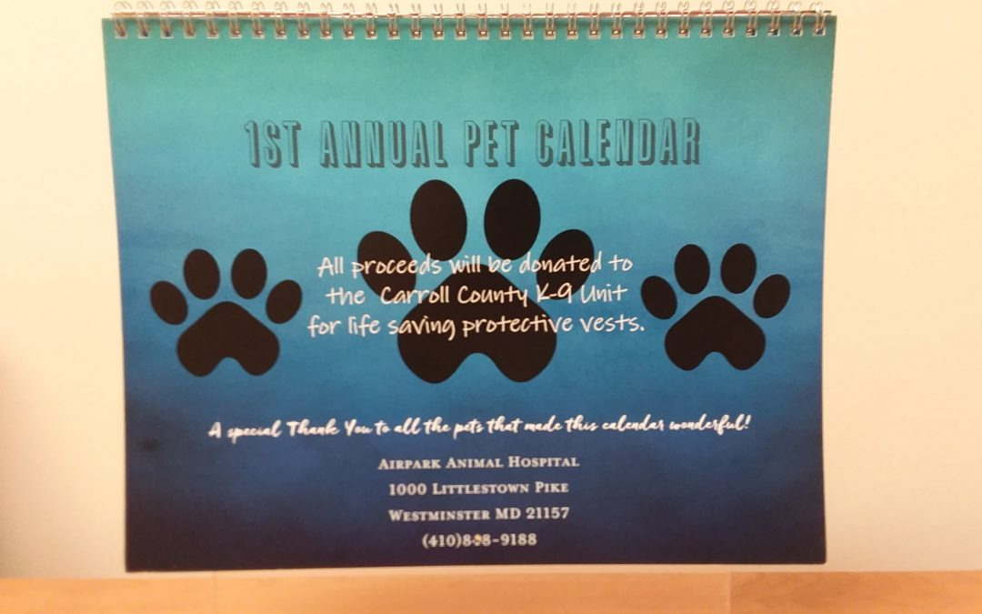1st Annual Pet Calendar